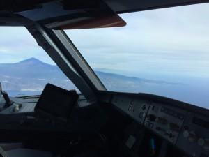 Blick aus dem Cockpit auf Teneriffa