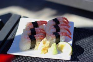 Sushi am Strand