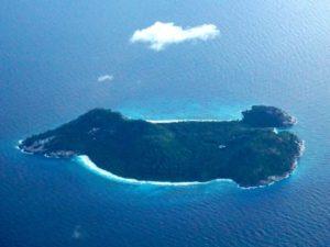 Seychellen Insel von oben