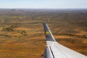 Landeanflug mit Condor auf Windhoek