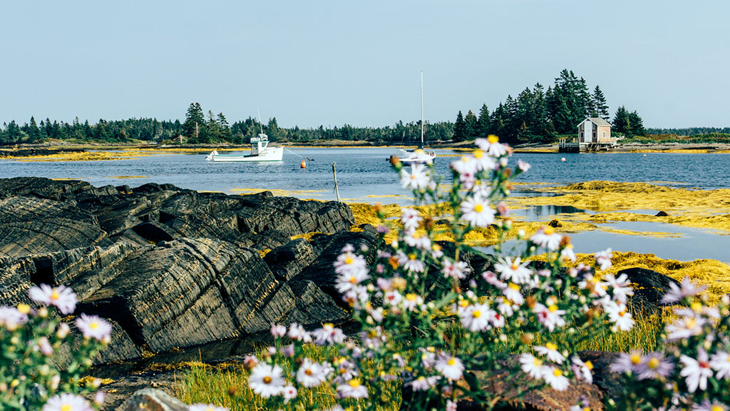 Blue Rocks, Nova Scotia, Kanada, Meer, Boot