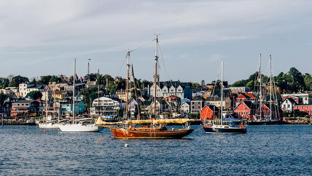 Luneburg, Nova Scotia, Segelboote, Kanada