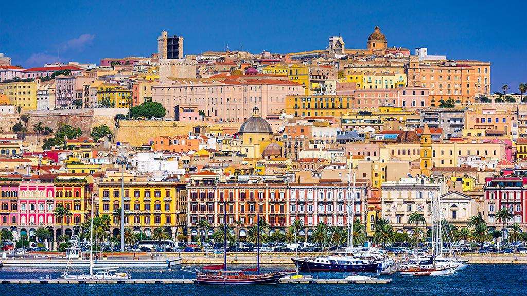 Cagliari, Sardinien, Stadtpanorama