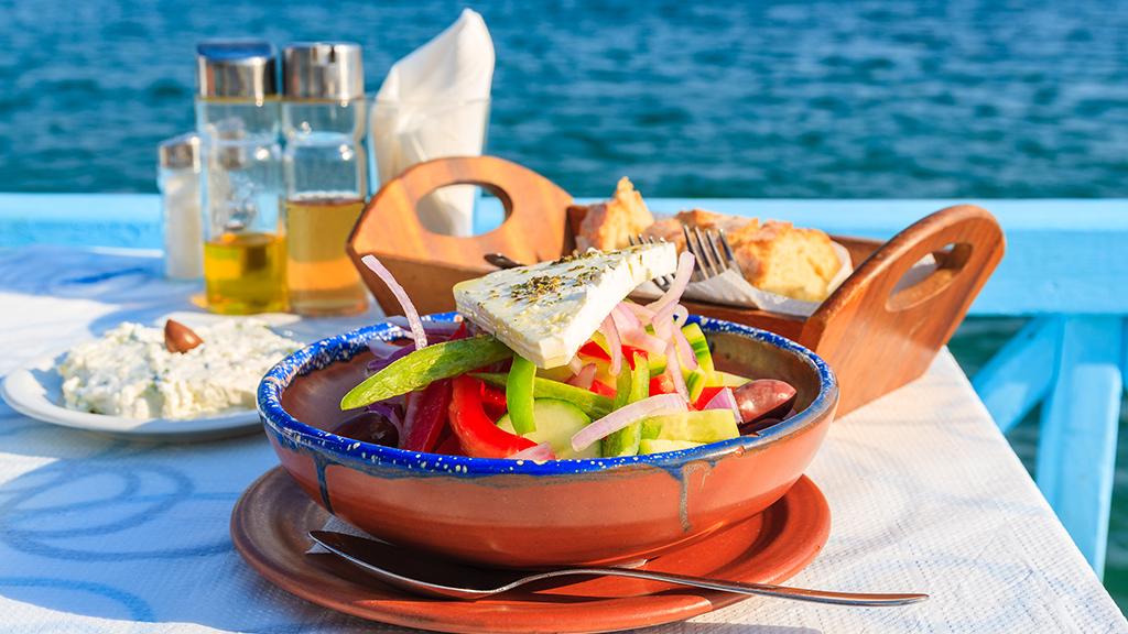 Griechisches Essen, Salat, Griechenland, Feta, Restaurant