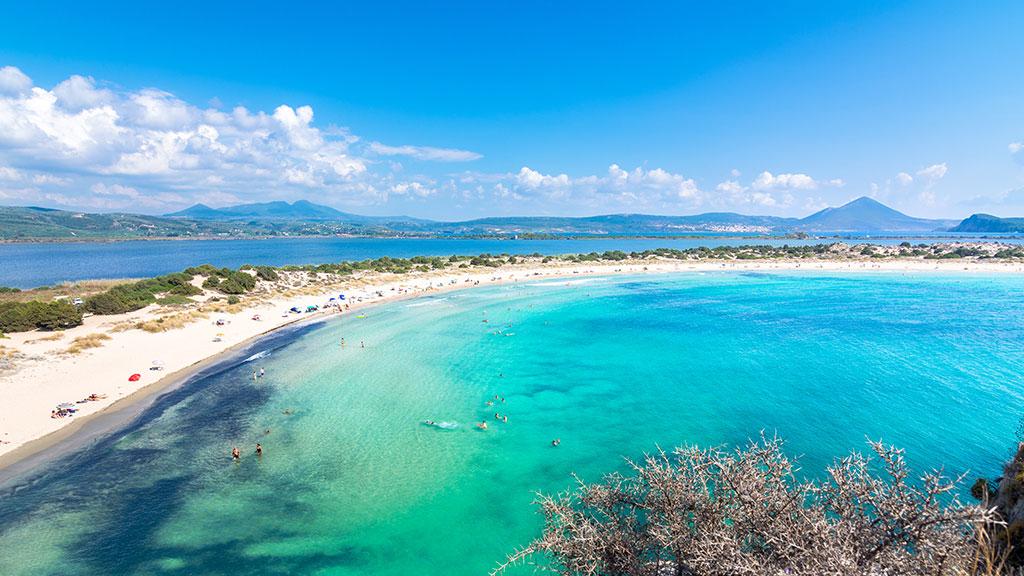 Voidokilia Beach, sichelförmige Bucht, Peloponnes, Griechenland Guide