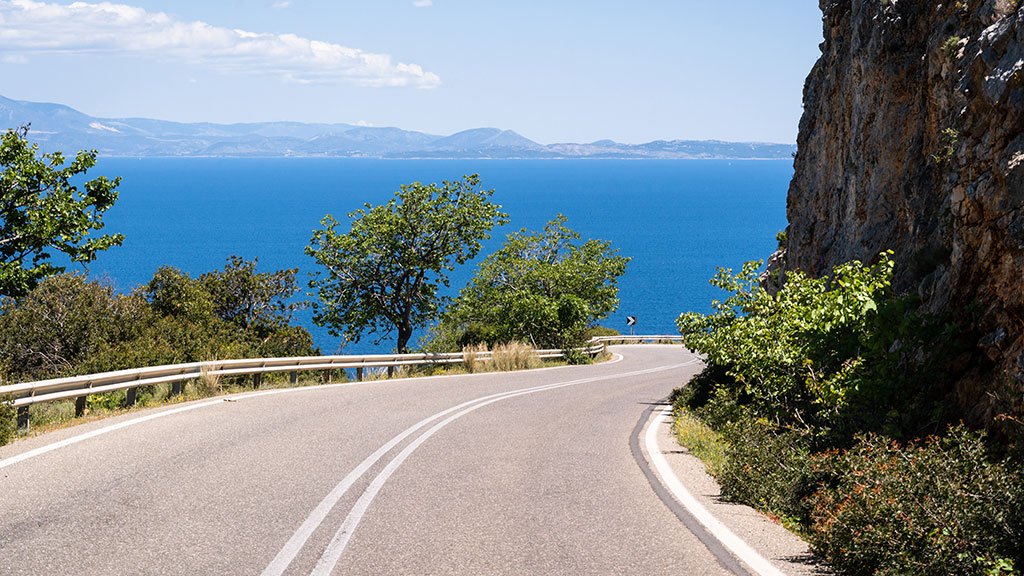 Griechenland Guide, Peloponnes, Kuestenstrasse