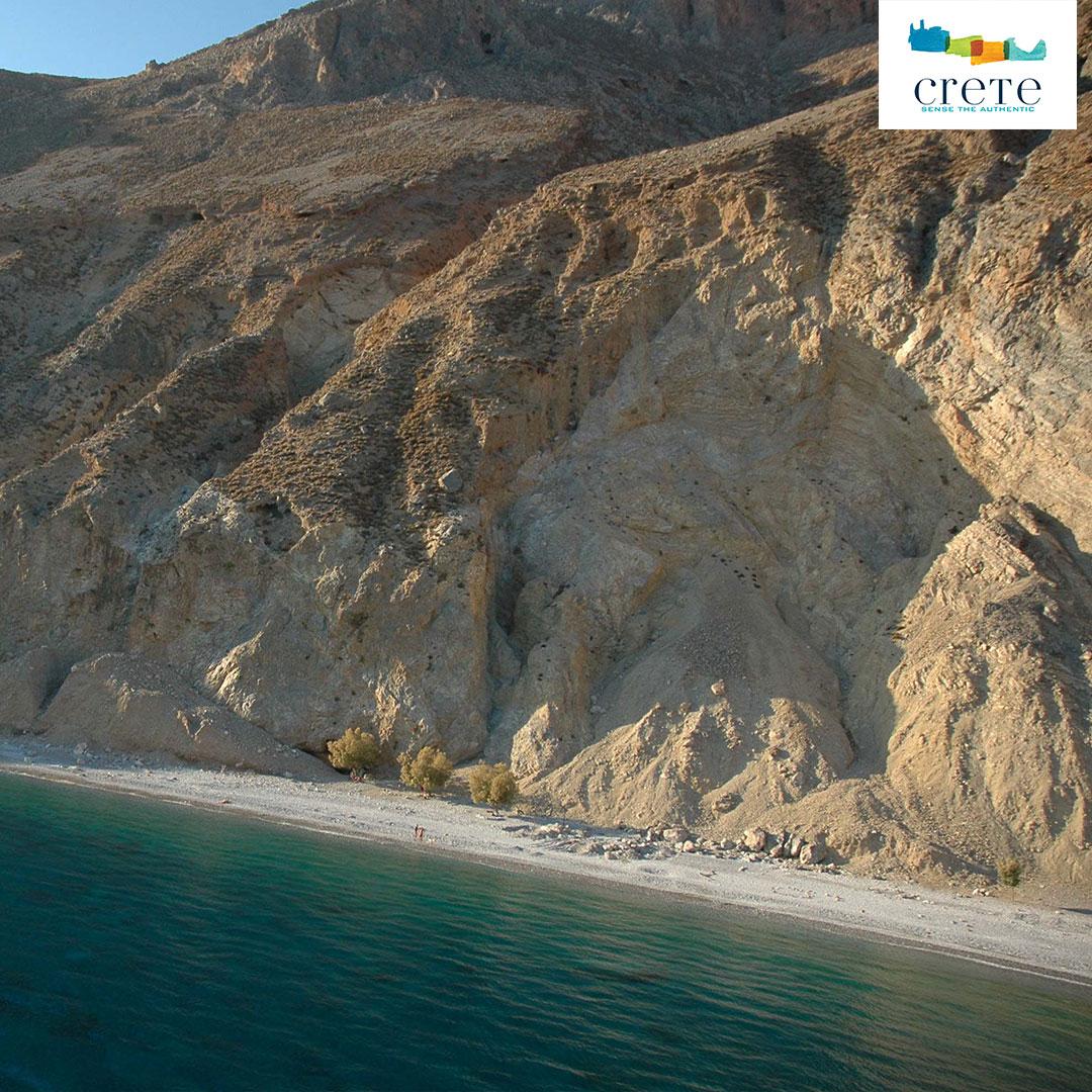 Blick auf den Glyka Nera Strand auf Kreta