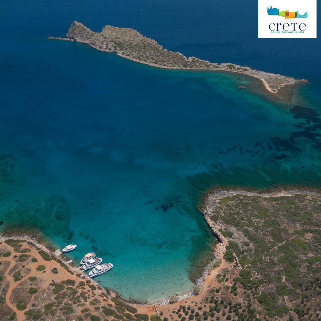 Blick auf den Kolokytha Strand auf Kreta