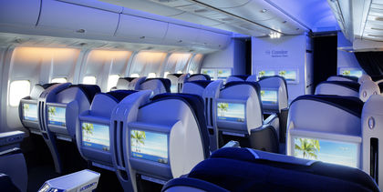Das innovatives Lichtkonzept der Condor Business Class