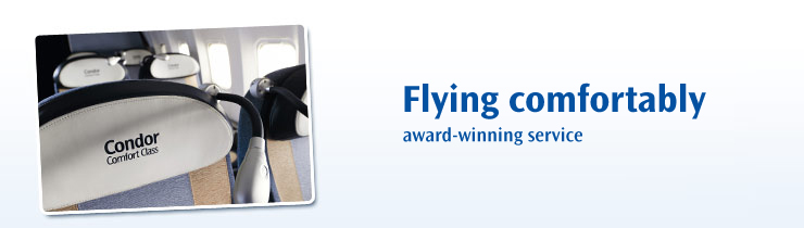 Flying comfortably - award-winning service